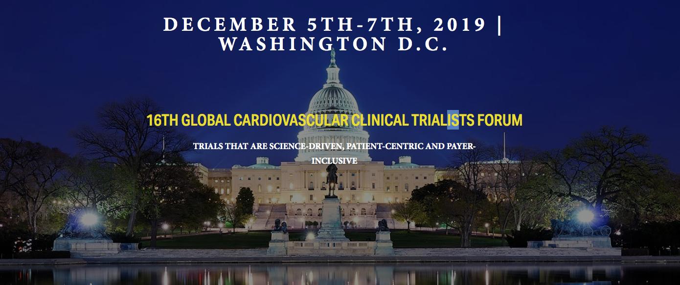 CardioVascular Clinical Trialists Forum 2019 - CVCT 2019 - ISCP